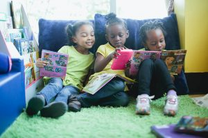 Kids Reading at Atlanta Mission