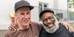 Two Men who met and became friends at Atlanta Mission