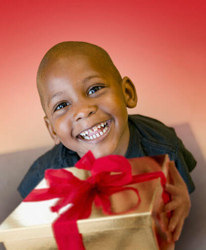 Child celebrating Christmas at Atlanta Mission