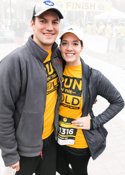 Kara and Ryan at the 2017 Atlanta Mission 5K Race to End Homelessness