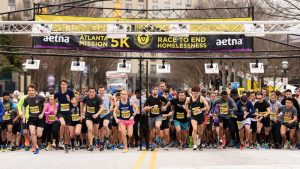 Starting Line of the 2018 Atlanta Mission 5K, Presented by Aetna