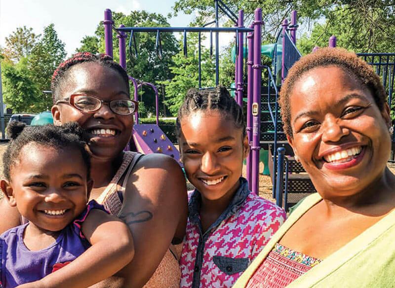 Melita and Her Family at Atlanta Mission