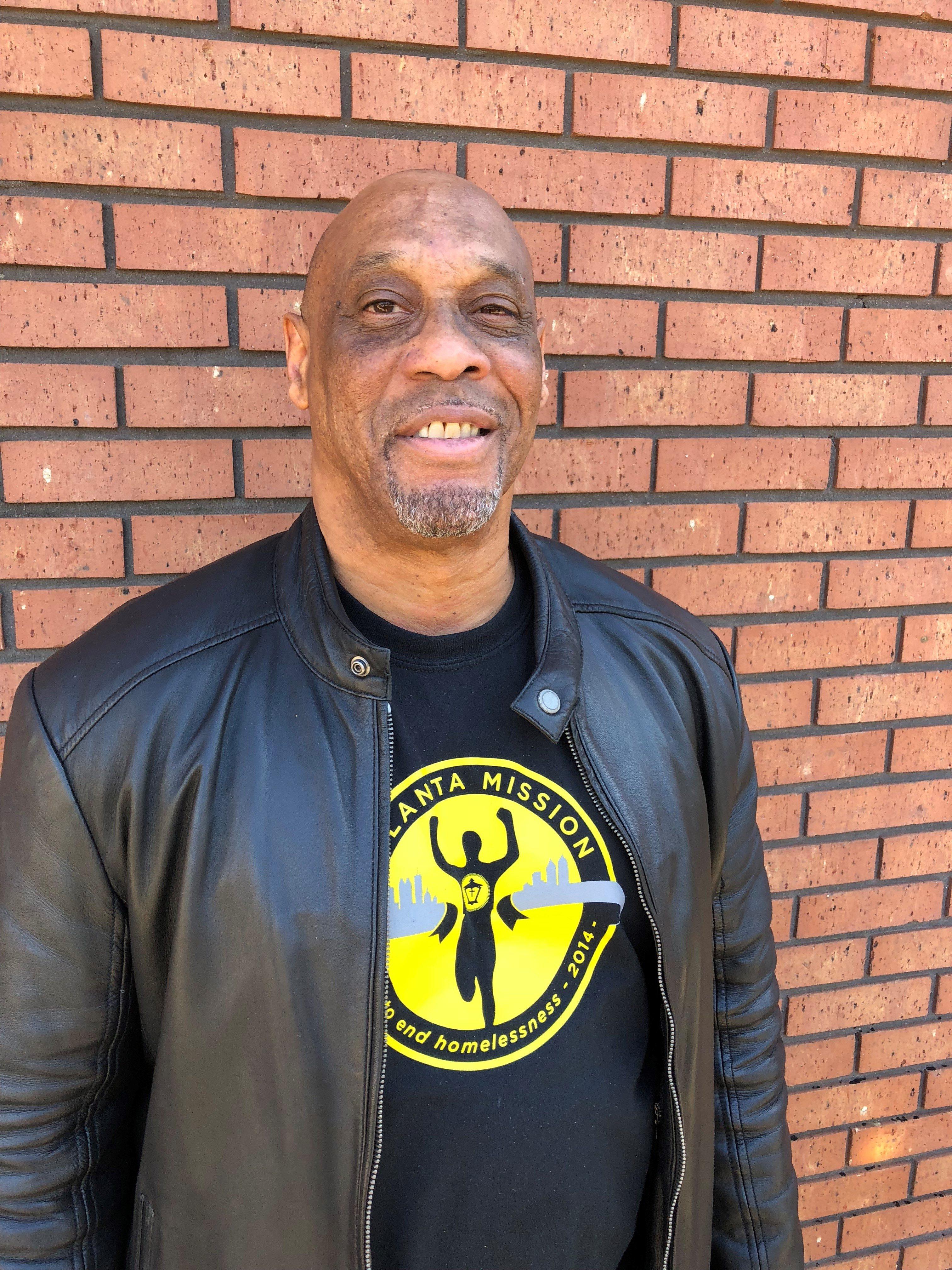 Wayne - an advocate at Atlanta Mission smiling