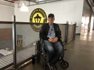 Blake in his wheelchair - story of transformation