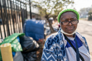 a woman facing homelessness