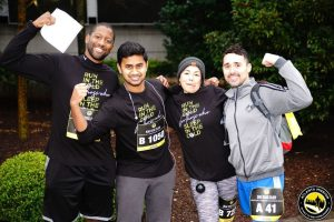 smiling group of people who ran the Atlanta Mission 5k